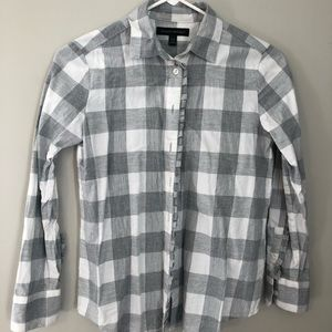 Banana republic buffalo check button up